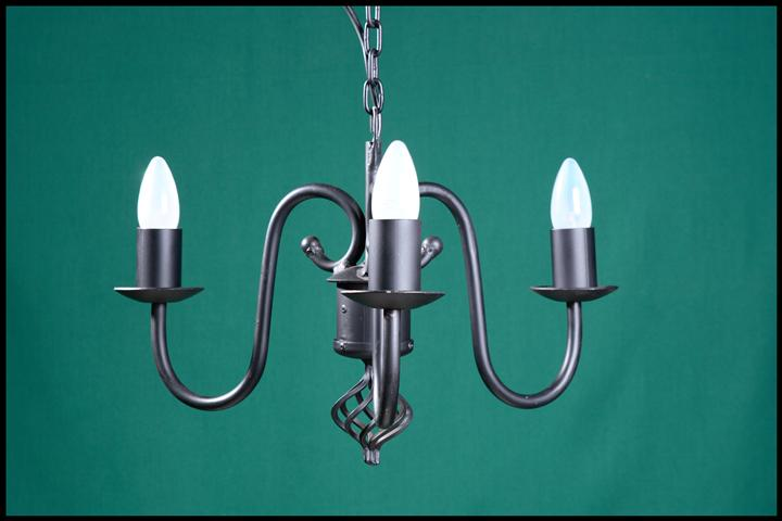 Bridson 3 Arm with Onion Wrought Iron Chandelier