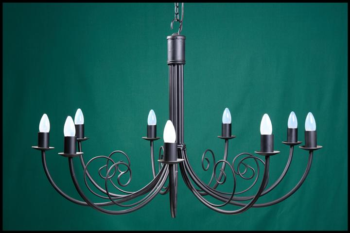 Bruce 9 Arm Wrought Iron Chandelier