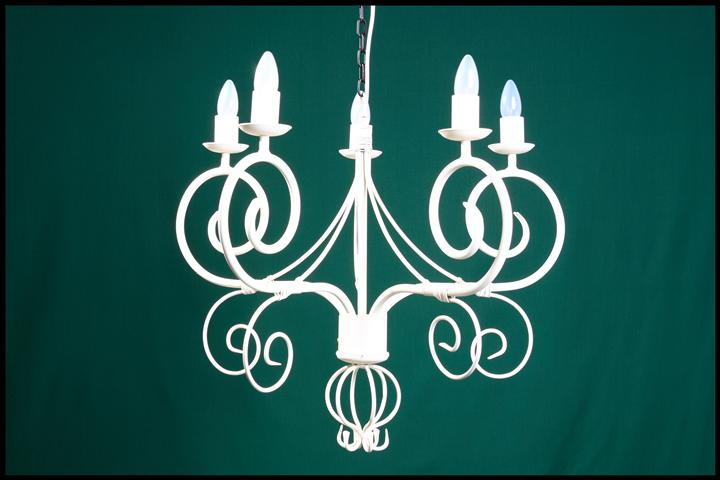 Cyprian 5 Arm Wrought Iron Chandelier