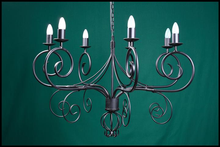Cyprian 7 Arm Wrought Iron Chandelier