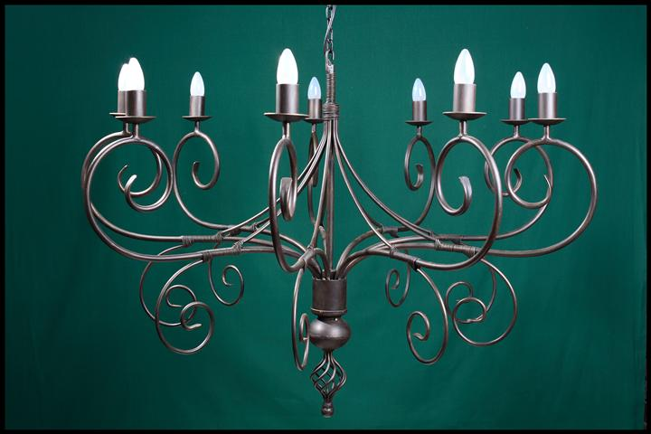 Cyprian 9 Arm Wrought Iron Chandelier