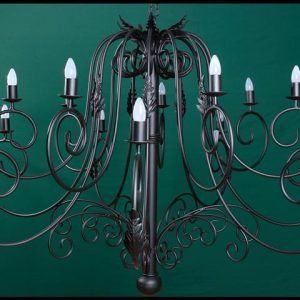 Julia 14 Arm Wrought Iron Chandelier
