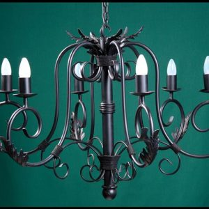 Julia 6 Arm Wrought Iron Chandelier
