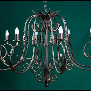 Julia 8 Arm Wrought Iron Chandelier