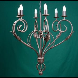 Lights High UP 6 Arm Wrought Iron Chandelier