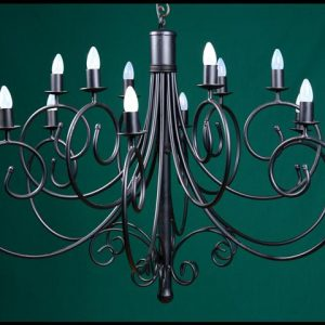 Sally 12 Arm Wrought Iron Chandelier