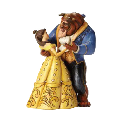 belle beast dancing couple moonlight waltz
