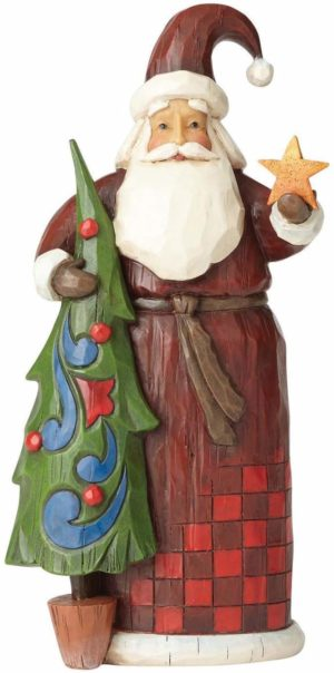 Jim Shore Folklore Santa Figurine